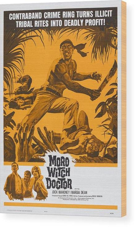 1964 Movies Wood Print featuring the photograph Moro Witch Doctor, Us Poster Art, 1964 by Everett