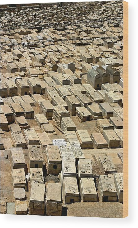 Israel Wood Print featuring the photograph Mount Of Olives by Henry Kowalski