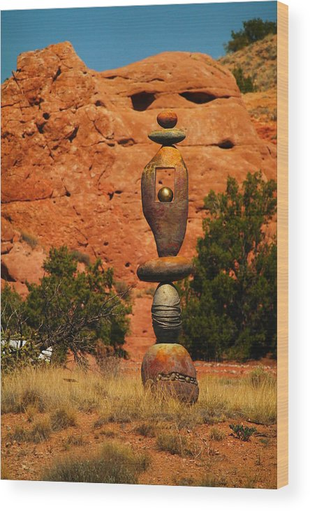 Rocks Wood Print featuring the photograph New Mexico Art by Jeff Swan