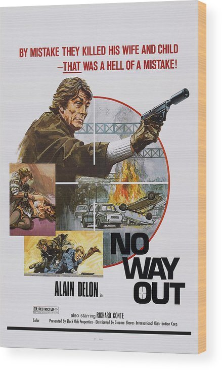 1970s Poster Art Wood Print featuring the photograph No Way Out, Aka Big Guns - Tony by Everett