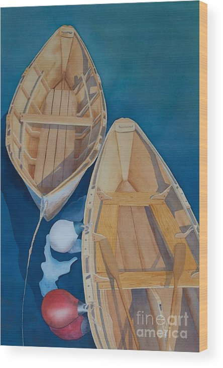 Maine Painting Wood Print featuring the painting Oguniquit Boats by Melissa Maxwell