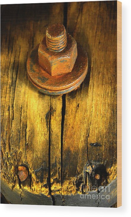 Newel Hunter Wood Print featuring the photograph Old Bolt by Newel Hunter