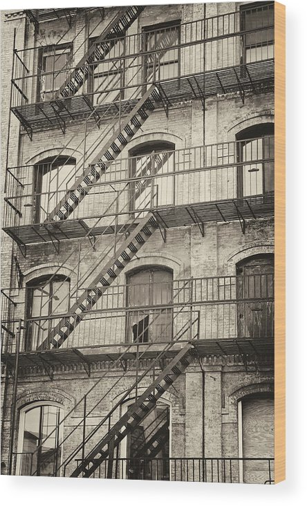 Apartment Wood Print featuring the photograph Old Building II. by Jaroslav Frank
