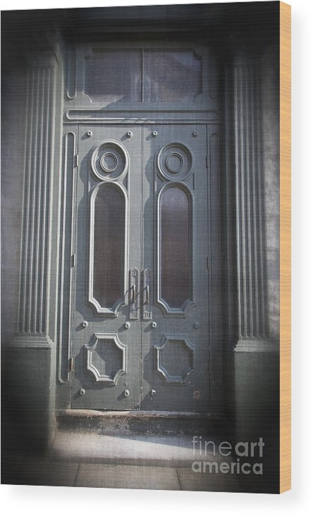 2013 Wood Print featuring the photograph Old Doorway Quebec City by Edward Fielding