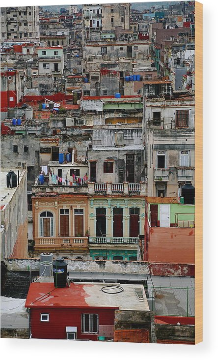 Cuba Wood Print featuring the photograph Old Havana by Marc Levine