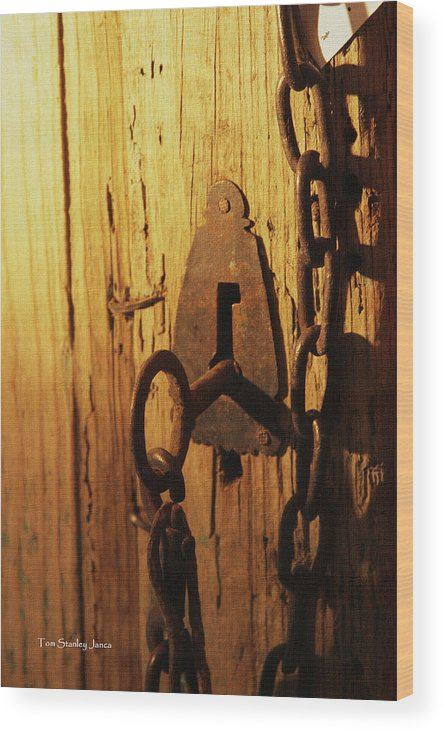 Old Lock And Key Wood Print featuring the photograph Old Lock And Key by Tom Janca