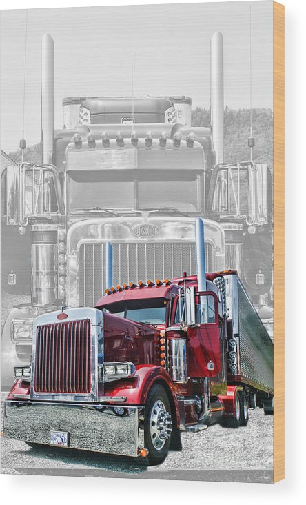 Trucks Wood Print featuring the photograph Old Skool-double Pete by Randy Harris