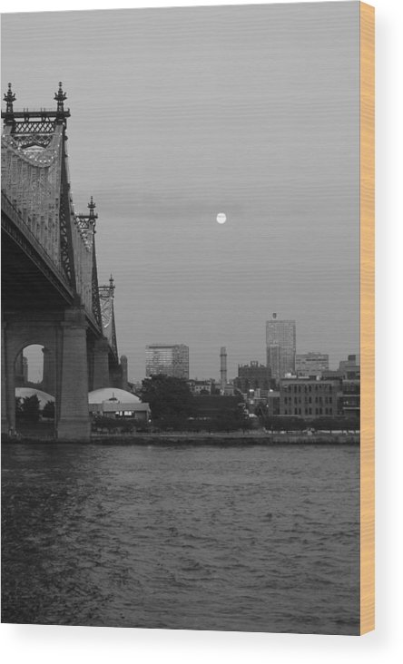 Queensboro Bridge Wood Print featuring the photograph Old Times by Catie Canetti