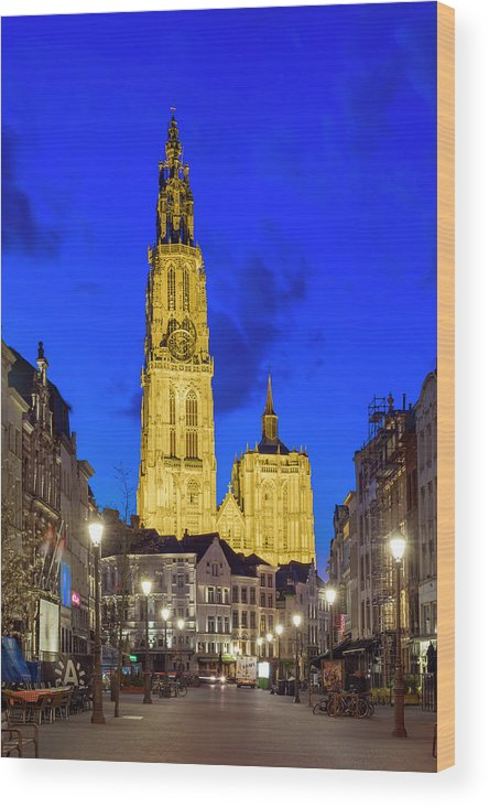 Outdoors Wood Print featuring the photograph Onze-lieve-vrouwekathedraal Cathedral by Jason Langley