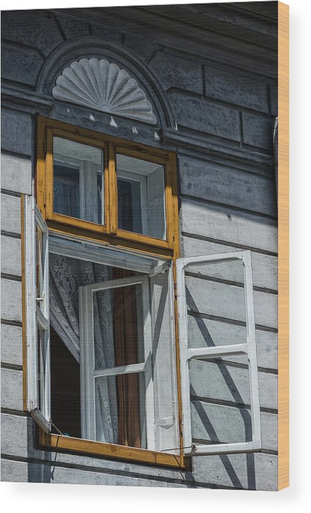 Window Wood Print featuring the photograph Open Window by Dobromir Dobrinov