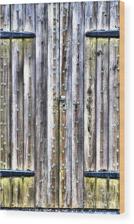 Wooden Door Wood Print featuring the photograph Oxidized Emerald Patina by Dale Powell