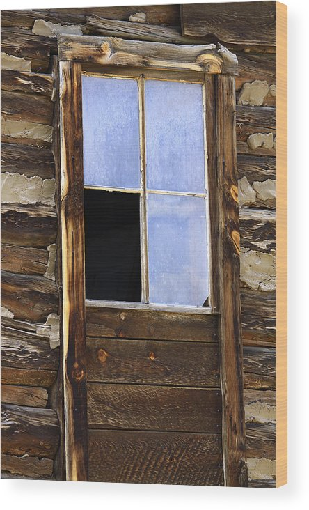 Nature Wood Print featuring the photograph Panes Of Yesteryear by David Kehrli