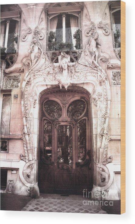Paris Doors And Windows Wood Print featuring the photograph Paris Art Deco Doors - Paris Art & Paris Art Deco Doors - Paris Art Nouveau Doors And Paris Ornate Door ...