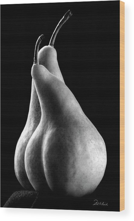 Photography Wood Print featuring the photograph Pears Can Be Sexy Too by Frederic A Reinecke