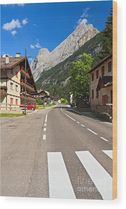 Alpine Wood Print featuring the photograph Penia - Canazei by Antonio Scarpi