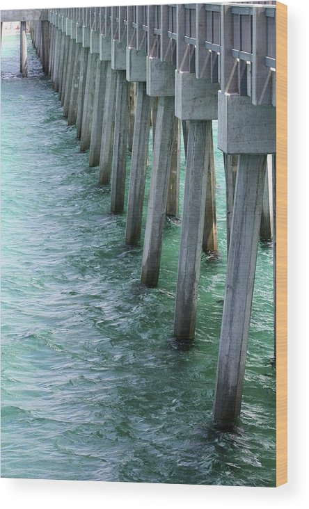 County Pier Wood Print featuring the photograph Pier Pressure by Soccer Dog Design