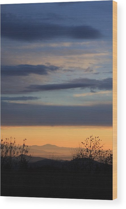 Mount Pisgah Wood Print featuring the photograph Pisgah Sunrise by Mountains to the Sea Photo