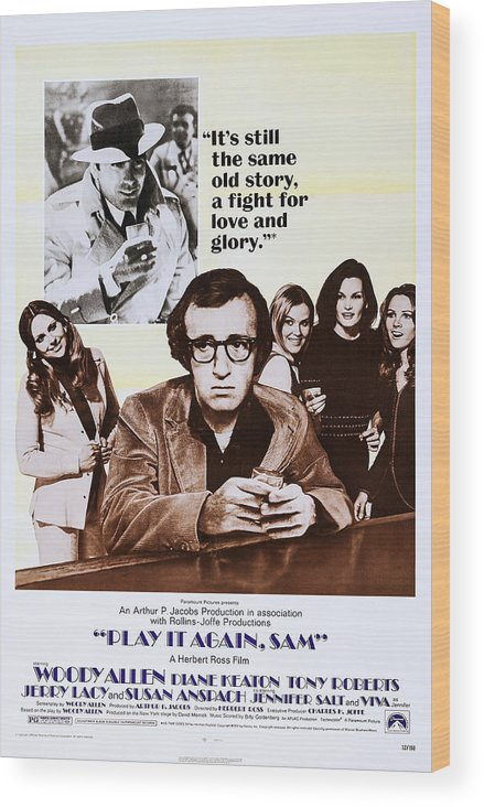 1970s Poster Art Wood Print featuring the photograph Play It Again, Sam, Top Jerry Lacy by Everett