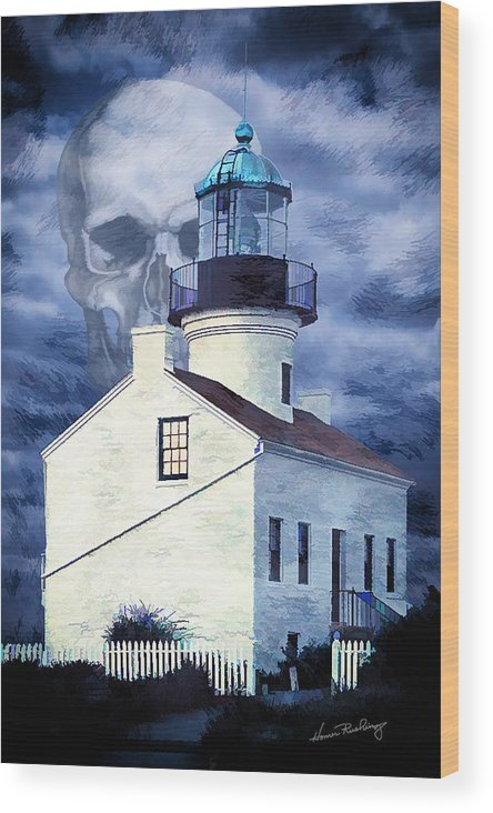 Point Loma Wood Print featuring the photograph Point Loma Death by Michael Rushing