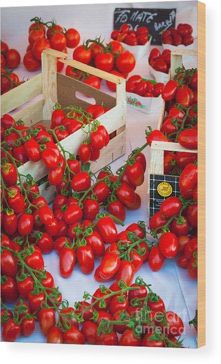 Cote D'azur Wood Print featuring the photograph Pomodori Italiani by Inge Johnsson
