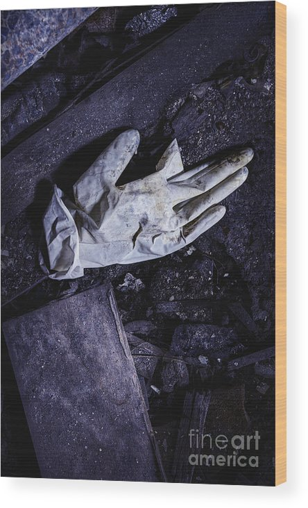 Glove Wood Print featuring the photograph Post Surgery by Margie Hurwich