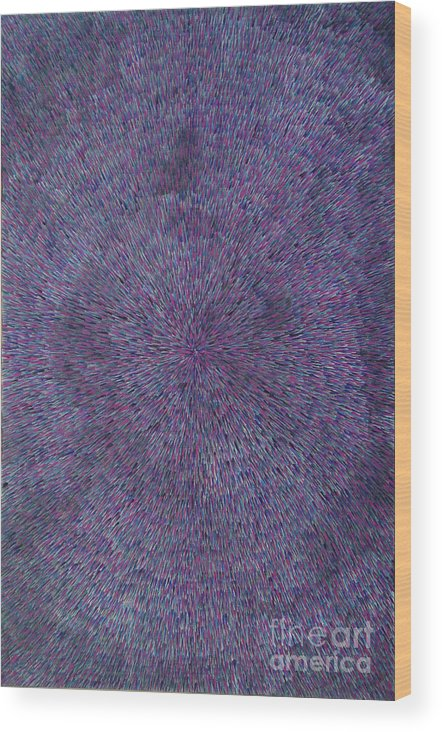 Abstract Wood Print featuring the painting Radiation Violet by Dean Triolo