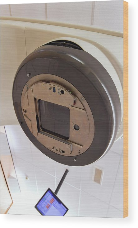 Machine Wood Print featuring the photograph Radiotherapy Linear Accelerator Beam Window by Dr P. Marazzi/science Photo Library