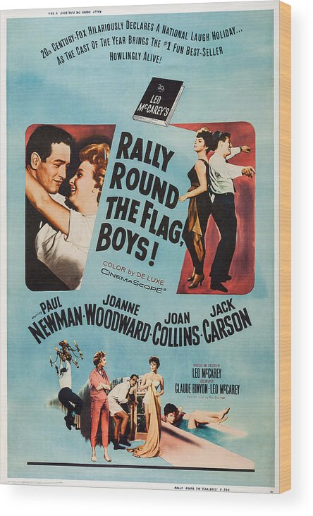 1950s Poster Art Wood Print featuring the photograph Rally Round The Flag, Boys, Us Poster by Everett