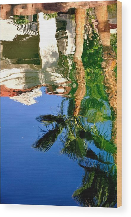 Buildings Wood Print featuring the photograph Reflection Gabezo And Trees 29478 by Jerry Sodorff