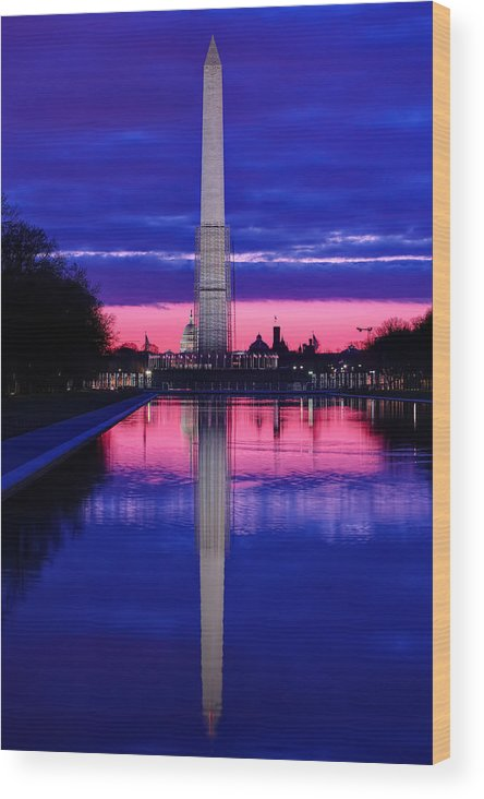 Metro Wood Print featuring the photograph Repairing The Monument I by Metro DC Photography