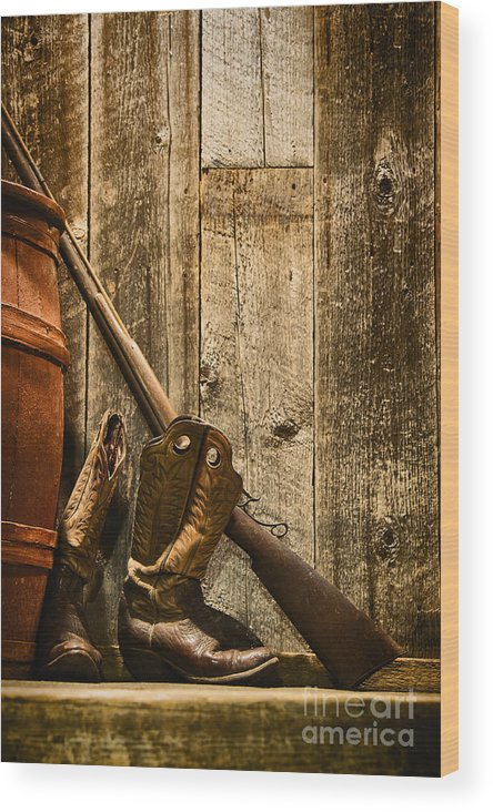 Rifle Wood Print featuring the photograph Rifle by Margie Hurwich