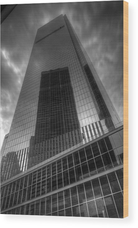 World Trade Center Wood Print featuring the photograph Rise Again by Jonathan Davison