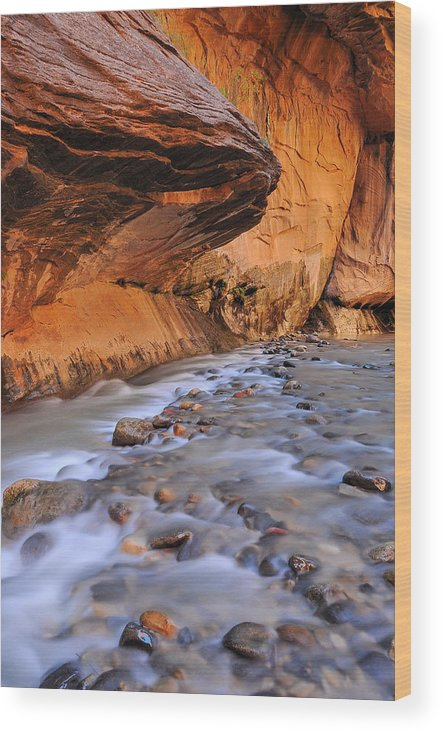 River Wood Print featuring the photograph River Through Zion by Jim Southwell