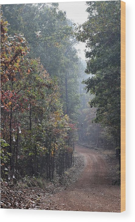 Fall Wood Print featuring the photograph Roads 41 by Lawrence Hess