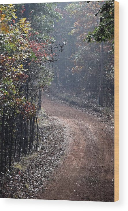 Roads Wood Print featuring the photograph Roads 42 by Lawrence Hess