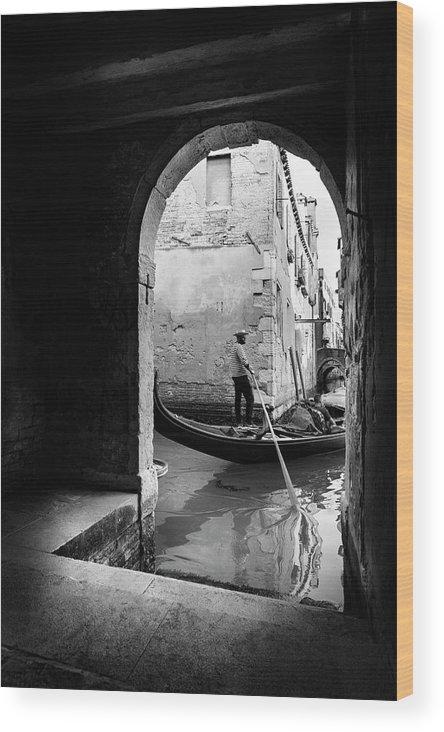 Venice Wood Print featuring the photograph Romantic Venice! by Fernando Jorge Gon?alves