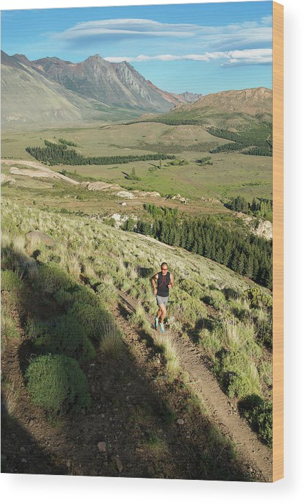 35-39 Years Wood Print featuring the photograph Running In Esquel, Chubut, Argentina by Marcos Ferro