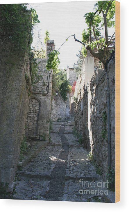 Alley Wood Print featuring the photograph Rustic Alley - Provence by Christiane Schulze Art And Photography