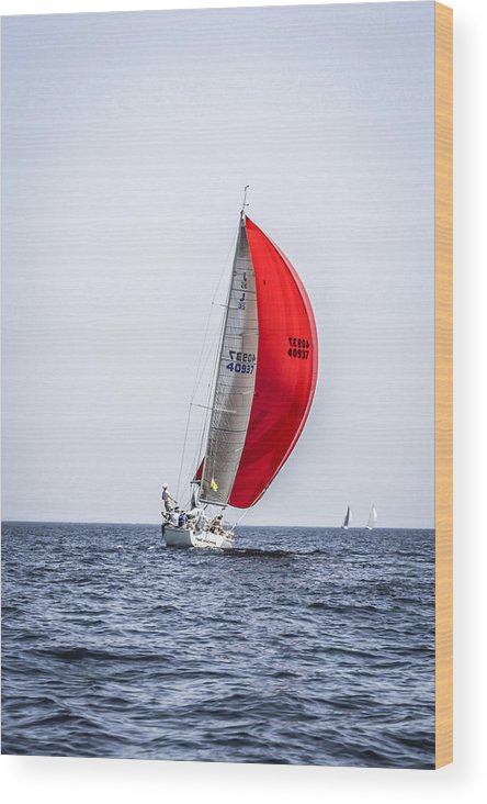 Sailboat Wood Print featuring the photograph Sailboat by Chris Smith