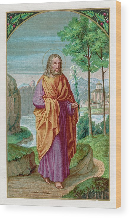 Saint Wood Print featuring the drawing Saint Joseph Husband Of Mary, And by Mary Evans Picture Library