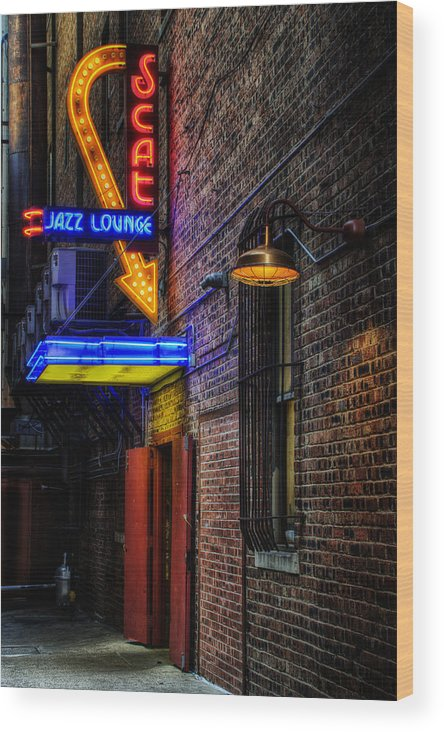 Scat Lounge Wood Print featuring the photograph Scat Lounge Living Color by Joan Carroll