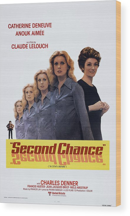 1970s Poster Art Wood Print featuring the photograph Second Chance, Aka Si Cetait A Refaire by Everett