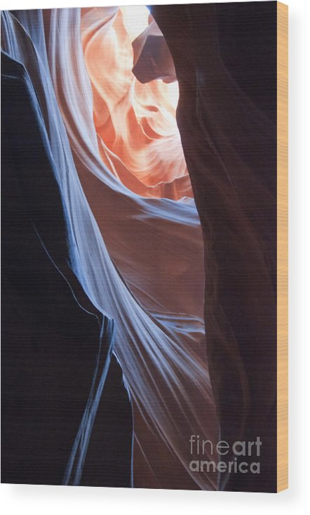 Antelope Wood Print featuring the photograph Secret Passage by Brenda Kean