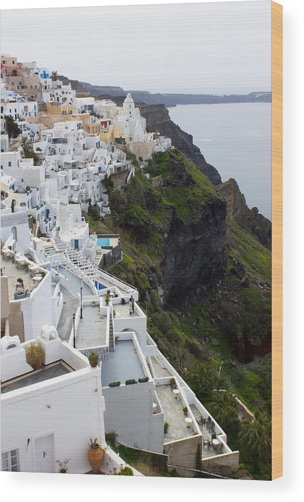 Santorini Wood Print featuring the photograph Splendor Of Santorini by Christie Kowalski