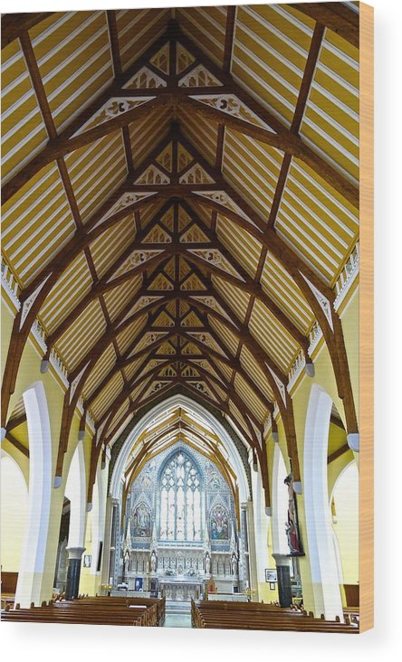 Church Wood Print featuring the photograph St Mary's Cathedral by Charlie Brock