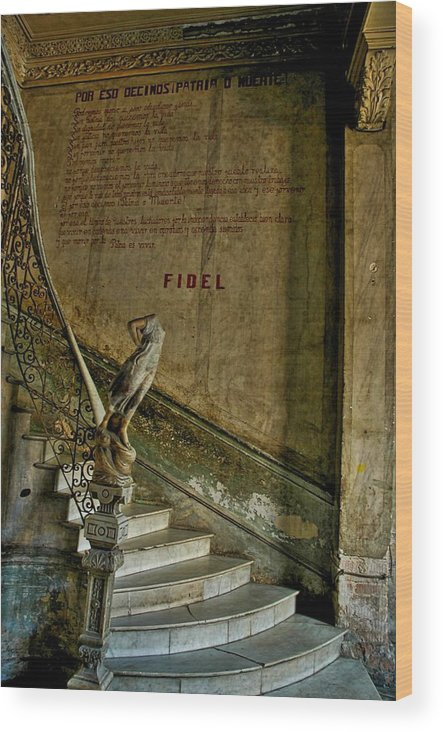 Havana Wood Print featuring the photograph Stairway To La Guarida by Larry Sides