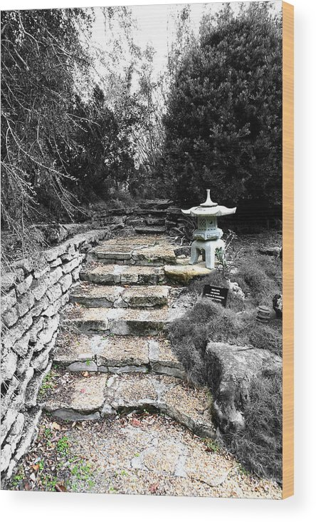 Slate Wood Print featuring the photograph Stone Steps by Eric Baierl