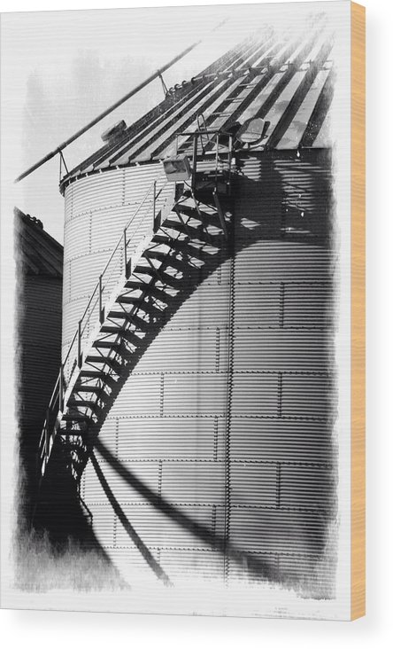 Storage Silo Wood Print featuring the photograph Storage Silo by Brett Beaver