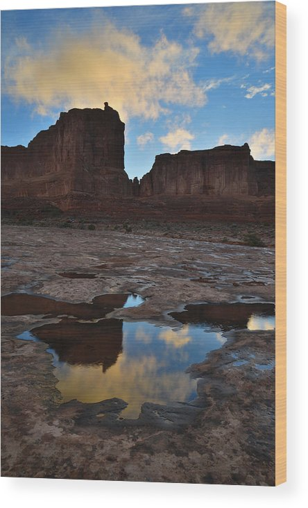 Arches National Park Wood Print featuring the photograph Storm Aftermath 5 by Ray Mathis