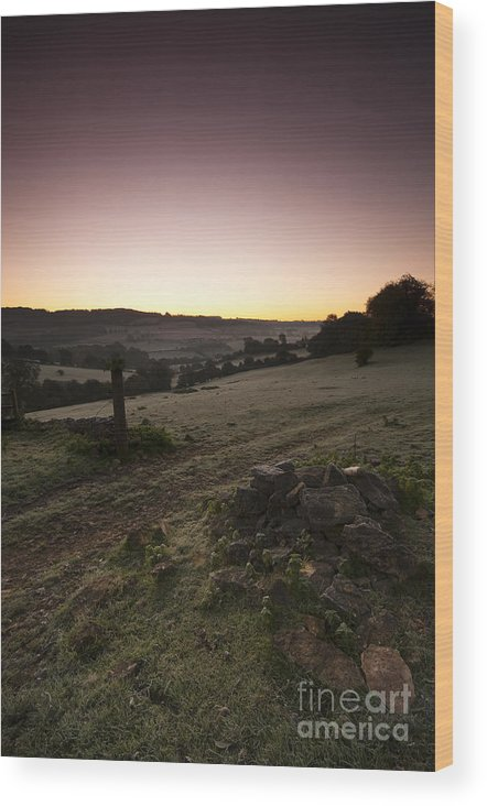 Autumn Wood Print featuring the photograph Stroud Sunrise by Anne Gilbert